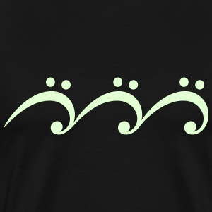 Music Note Wave, Bass Clef, Guitar, Musician, Surf T-Shirts - Men's Premium T-Shirt