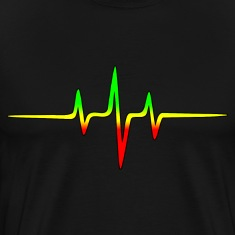 Music Pulse, Reggae, Sound Wave, Rastafari, Jah,  T-Shirts