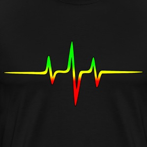 Music Pulse, Reggae, Sound Wave, Rastafari, Jah,  T-Shirts - Men's Premium T-Shirt