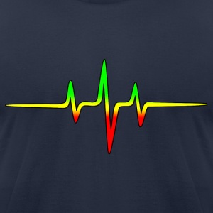 Music Pulse, Reggae, Sound Wave, Rastafari, Jah,  T-Shirts - Men's T-Shirt by American Apparel