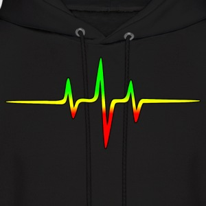 Music Pulse, Reggae, Sound Wave, Rastafari, Jah,  Hoodies - Men's Hoodie
