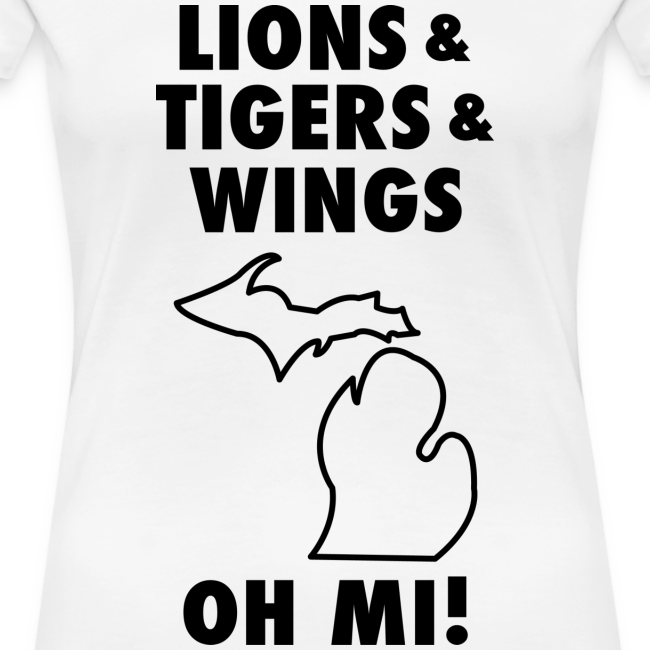 Lions & Tigers & Wings Oh MI! black
