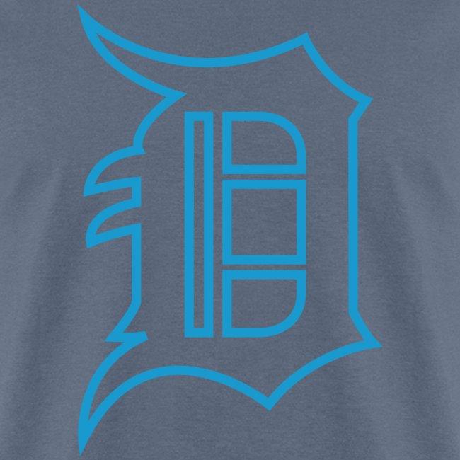 Outline D Blue