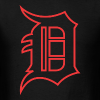 Outline D Red - Men's T-Shirt