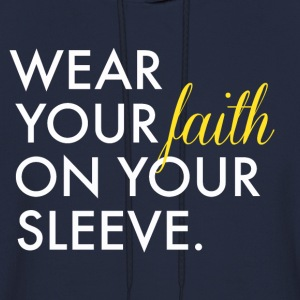 Wear Your Faith on Your Sleeve Men's Hooded Sweats - Men's Hoodie