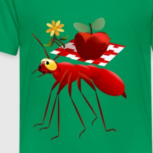 Fire Ant and Picnic Apple - Kids' Premium T-Shirt