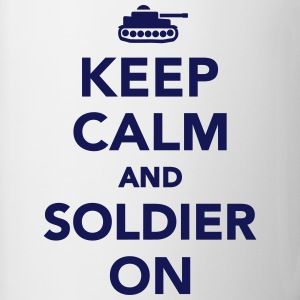 Keep calm and Soldier on Bottles & Mugs - Contrast Coffee Mug