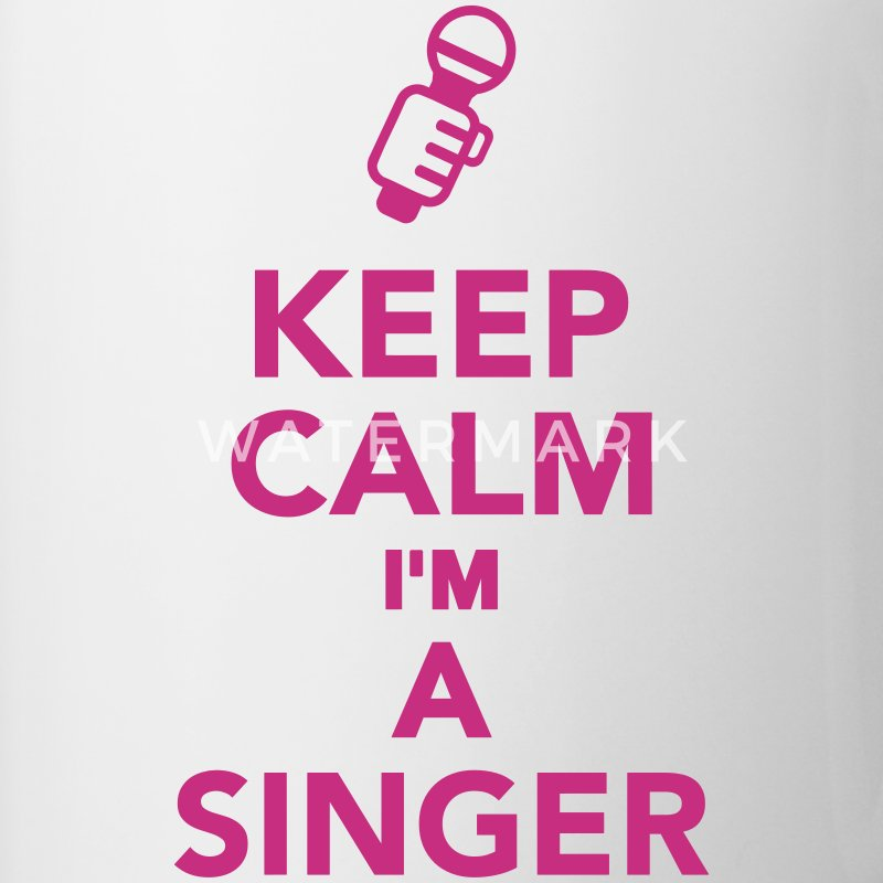 Keep calm I'm a Singer Bottles & Mugs - Contrast Coffee Mug
