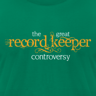 Design ~ the great record keeper controversy - men's orange/white