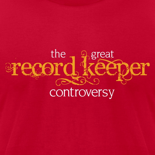 the great record keeper controversy - men's orange/white