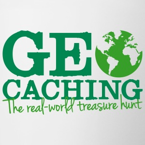Geocaching - the real-world treasure hunt Bottles & Mugs - Contrast Coffee Mug