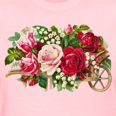 Vintage Rose Cart Women's T-Shirts