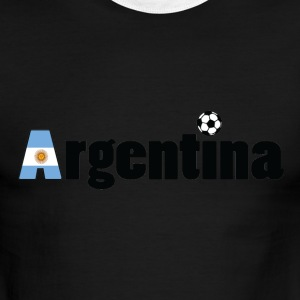 GO GO Argentina Men's Ringer T-shirt by American a - Men's Ringer T-Shirt