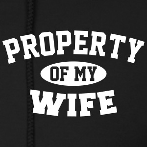 PROPERTY OF MY WIFE Zip Hoodies & Jackets - Men's Zip Hoodie