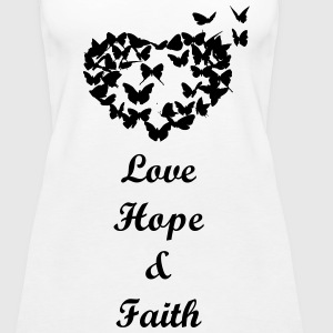 Love hope and faith - Women's Premium Tank Top