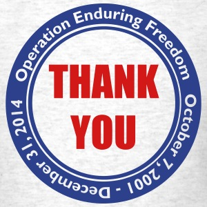 Operation Enduring Freedom Thank You / Blue & Red - Men's T-Shirt