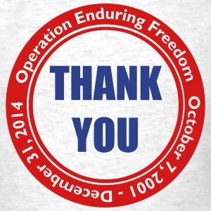 Operation Enduring Freedom Thank You / Red & Blue - Men's T-Shirt