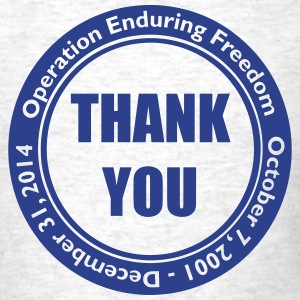 Operation Enduring Freedom Thank You / Blue - Men's T-Shirt