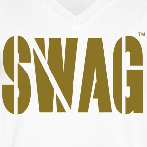 SWAG T-Shirts - Men's V-Neck T-Shirt by Canvas