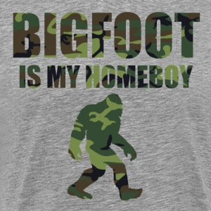Bigfoot Is My Homeboy Camo - Men's Premium T-Shirt
