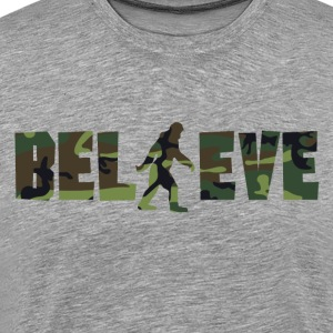 Camouflage Believe Bigfoot - Men's Premium T-Shirt