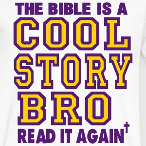 THE BIBLE IS A COOL STORY BRO READ IT AGAIN - Men's V-Neck T-Shirt by Canvas
