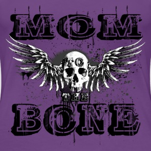 MoM to the BONE Winged Skull Grungebee 2 Women's T-Shirts - Women's Premium T-Shirt
