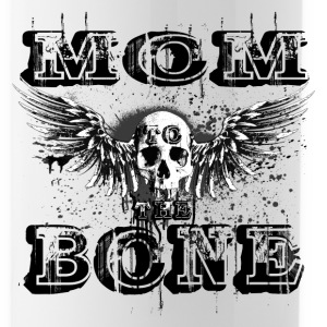 MoM to the BONE Winged Skull Grungebee 2 Bottles & Mugs - Water Bottle