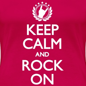 Keep Calm And Rock On Women's T-Shirts - Women's Premium T-Shirt