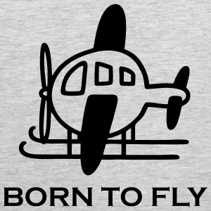 Helicopter - Borm to fly Men - Men's Premium Tank