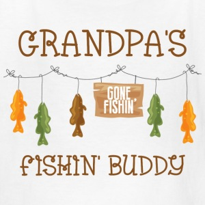 Gone Fishing Line Grandpa Kids' Shirts - Kids' T-Shirt