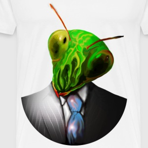 pray mantis suit and tie T-Shirts - Men's Premium T-Shirt