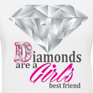 Diamonds are girls best friend - Women's V-Neck T-Shirt