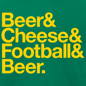BEER & CHEESE & FOOTBALL & BEER T-Shirts - Men's T-Shirt by American Apparel