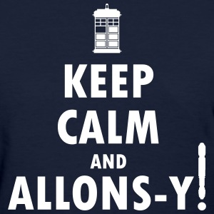 Keep Calm and Allons-y! Distressed / Robot Plunger - Women's T-Shirt