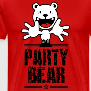 party bear (text, 1c) T-Shirts - Men's Premium T-Shirt