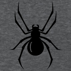 a black spider with eight legs  Women's T-Shirts