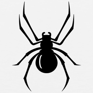 a black spider with eight legs  Men - Men's Premium Tank
