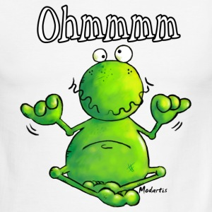 Ohmmm Frog - Frogs - Meditation T-Shirts - Men's Ringer T-Shirt