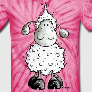 Little White Sheep Cartoon T-Shirts - Unisex Tie Dye T-Shirt