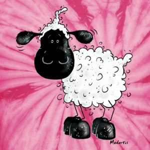 Cute Black Sheep Cartoon T-Shirts - Unisex Tie Dye T-Shirt