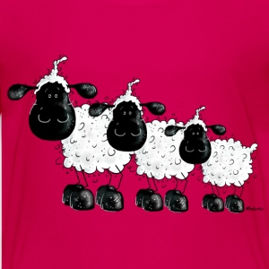 Three Cute Black Sheep Cartoon Kids' Shirts - Kids' Premium T-Shirt
