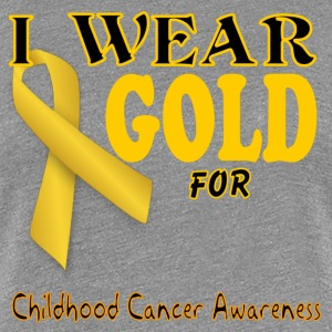 I wear gold for childhood awareness template Women's T-Shirts - Women's Premium T-Shirt