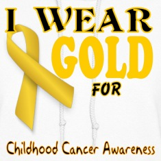 I wear gold for childhood awareness template Hoodies