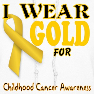 I wear gold for childhood awareness template Hoodies - Women's Hoodie