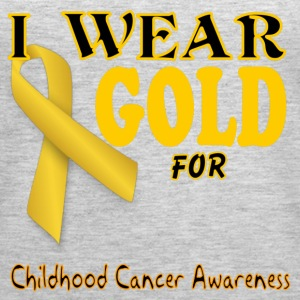 I wear gold for childhood awareness template Tanks - Women's Premium Tank Top