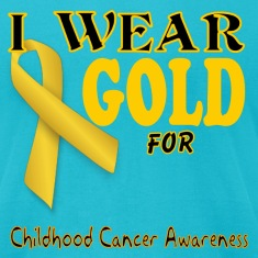 I wear gold for childhood awareness template T-Shirts