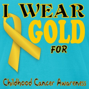 I wear gold for childhood awareness template T-Shirts - Men's T-Shirt by American Apparel