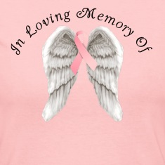Memory Angel Wings for Breast Cancer template Long Sleeve Shirts