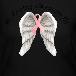 Memory Angel Wings for Breast Cancer template Long Sleeve Shirts - Women's Long Sleeve Jersey T-Shirt